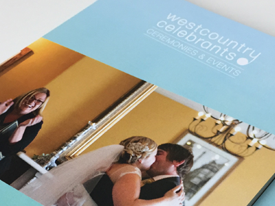 "Westcountry Celebrants <p class=""projectCategory"">Branding / Stationary / Flyers / Print</p>"