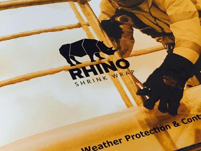 "Rhino Shrink Wrap<p class=""projectCategory"">Stationary / Brochure / Print</p>"