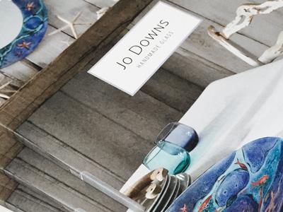 "Jo Downs Handmade Glass<p class=""projectCategory"">Brochure / Graphic Design</p>"