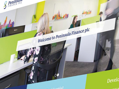 "Peninsula Finance plc<p class=""projectCategory"">Rebrand / Website</p>"