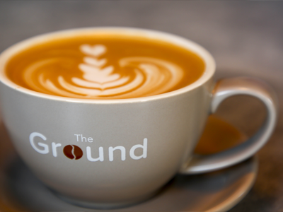 "The Ground Coffee House <p class=""projectCategory"">Branding / Signage / Advertising</p>"